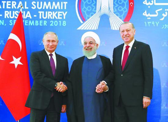 俄土伊总统商讨叙未来 俄称解决叙问题条件成熟