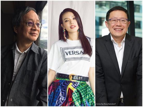 2018金马创投会议决选评审小野(左起)、舒淇、利雅博