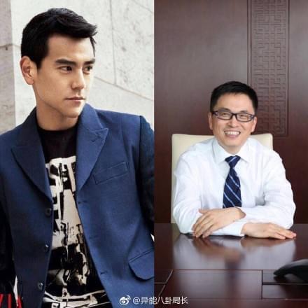 彭于晏(左)与张磊(右)
