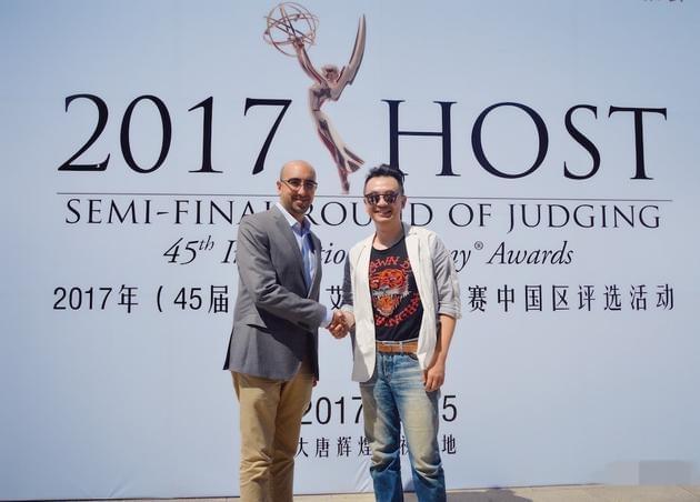 黄海波低调现身活动 担任国际艾美奖评审