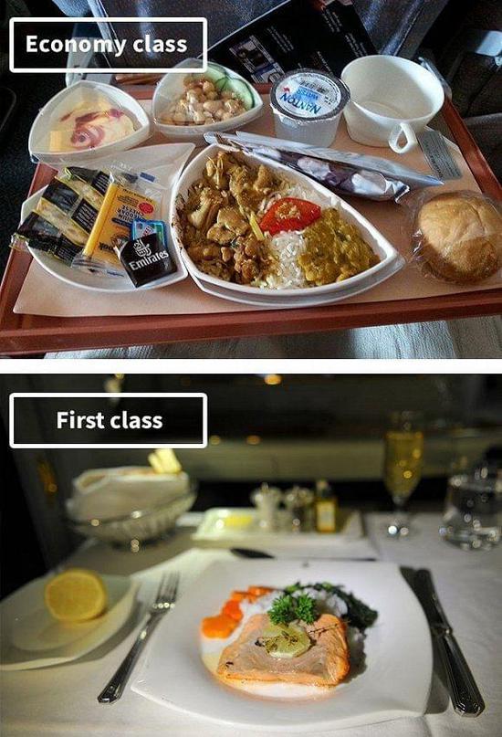 阿联酋航空飞机餐.界面新闻
