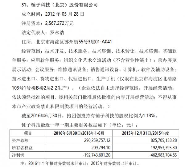 尼毕鲁科技招股书披露锤子财务数据 上半年亏损1.92亿元的照片 - 2