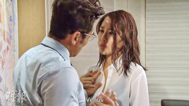 陈敏之跟唐文龙在《塘心3》有火辣辣场面。