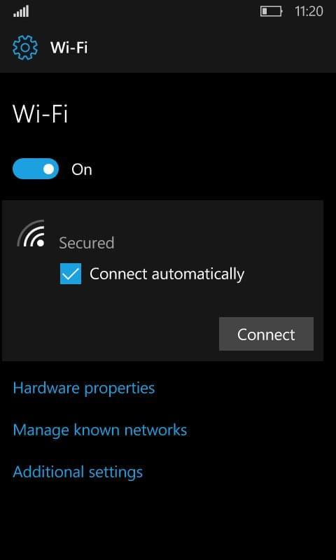Windows 10红石2移动版采用类似PC版的Wi-Fi设置界面的照片 - 5