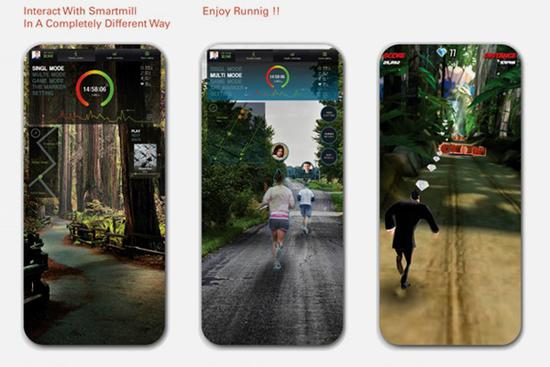 在家跑步不够酷炫这款智能跑步机跑出画面感