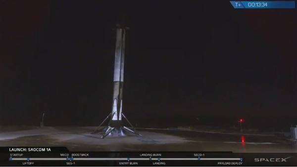 SpaceX成功发射一枚二手猎鹰9火箭:第一级首次在美国西岸陆地回收