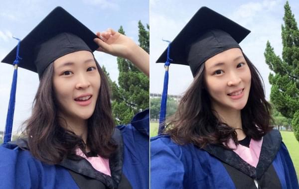 惠若琪晒硕士毕业照变学妹
