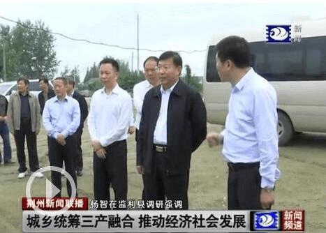 杨智调研监利县基层党建、美丽乡村建设等工作