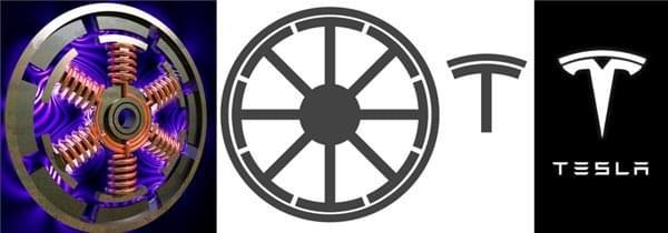 特斯拉T型车标含义:电动马达的横截面的照片 - 2
