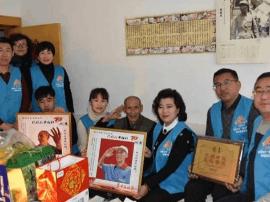 山海关东城社区开展慰问抗战老兵志愿服务活