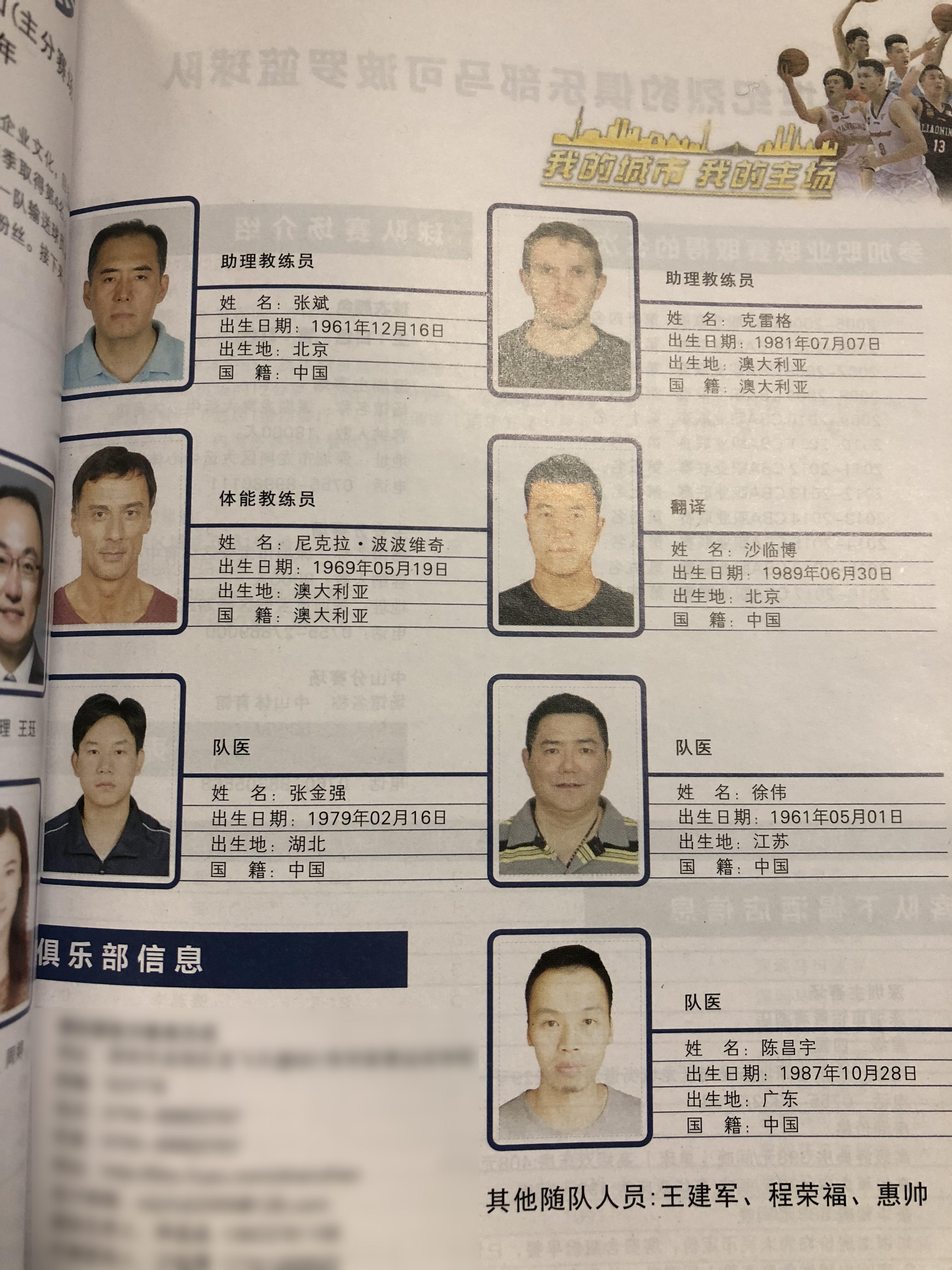 深圳男篮注册队医高达3人