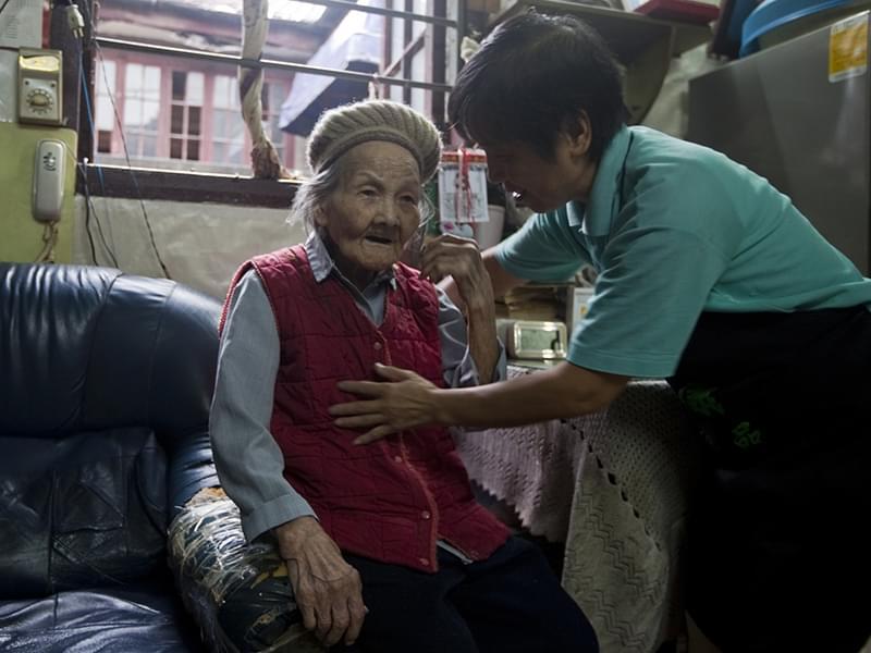 外婆和老阿姨