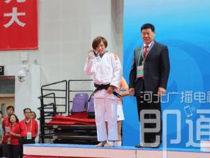 邯郸选手王鑫全运会柔道首日为河北斩获一枚银牌