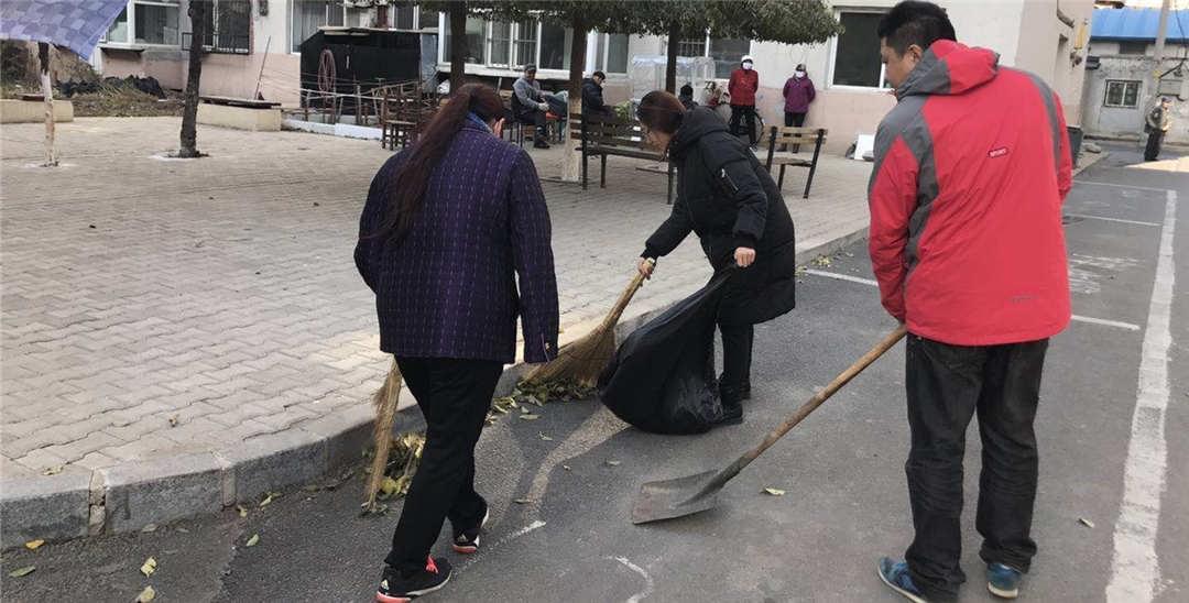 于洪区红十字会开展全民大清扫活动