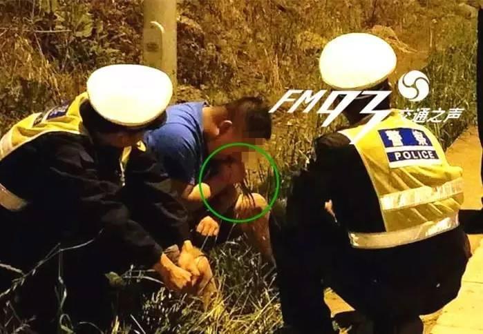 司机为躲酒精测试路边拔草吃 一片草被吃光