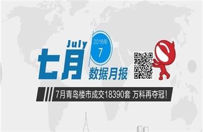 7月青岛楼市榜单:成交18390套 万科再夺冠!