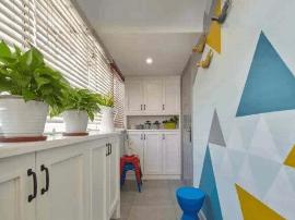 巧思路设计78㎡美式两居室 创意墙饰时尚爆棚