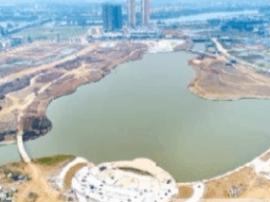 漠阳湖公园一期将完工 市民又多休闲去处