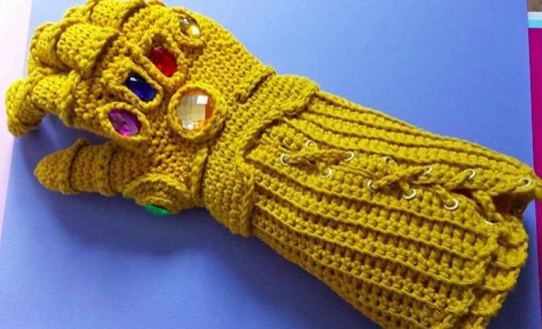 我妈织的手套