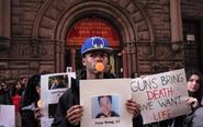 美国多地集会呼吁控枪法案