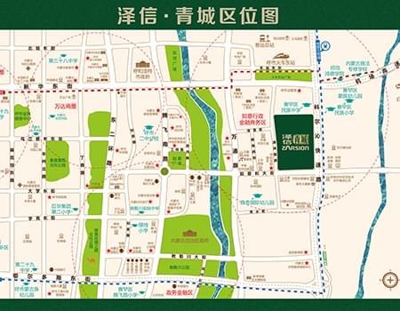 泽信·青城区位图