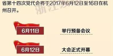 浙江省第十四次党代会议程发布