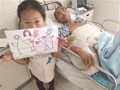 父亲患重病5岁女童要卖画救父 每张画里都有一家三口