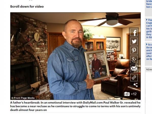 保罗·沃克71岁父亲看《速激8》:这集没有我儿子