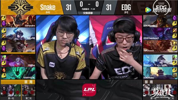 英雄联盟LPL夏季赛首周:EDG战胜Snake终取首胜