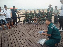 山海关:浴场急救培训  保障游客安全