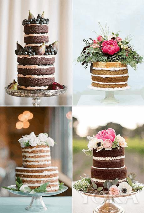 最治愈的婚礼甜品 没穿衣服的裸蛋糕