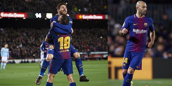 国王杯-梅西2射+开天眼1传 巴萨5-0胜晋级