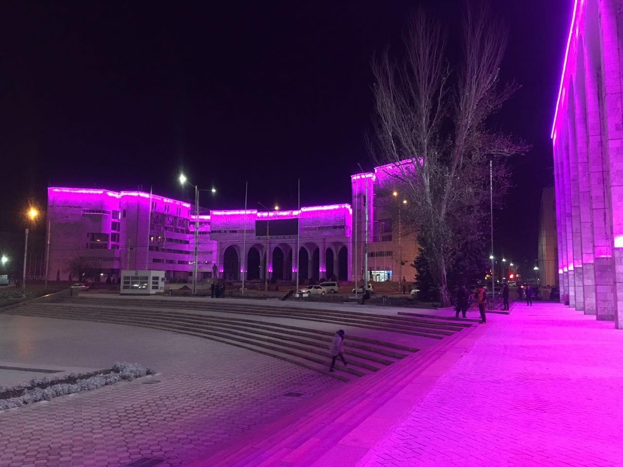 中心广场夜景