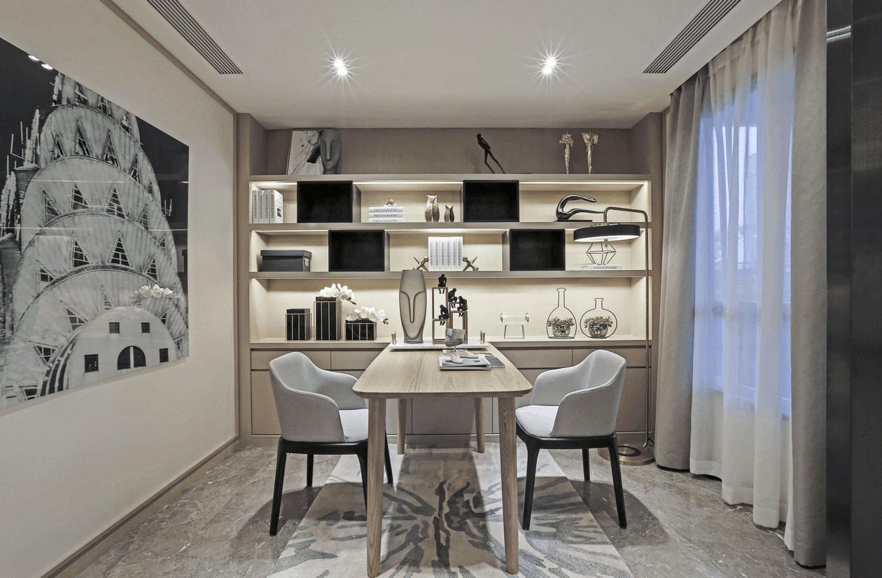 南熙福邸三居室装修设计效果图_乐装易站