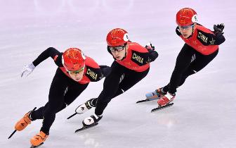 短道男子5000米接力匈牙利夺冠 中国亚军韩国摔倒