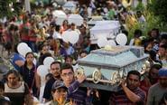 墨西哥为地震遇难者办葬礼
