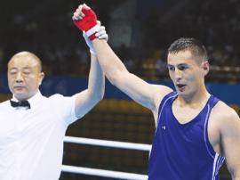 全运拳击决赛开战 天津选手张辉浩和海沙尔进八强