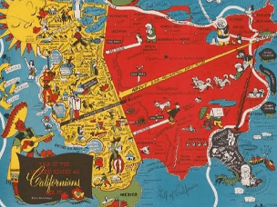 严肃的手绘画报地图 看起来就很幽默