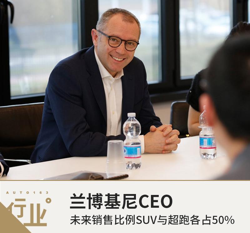 兰博基尼CEO: 未来销售比例SUV与超跑各占50%