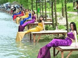 """一大波""""美人鱼""""惊现宜昌夷陵全国河钓大赛现场"""