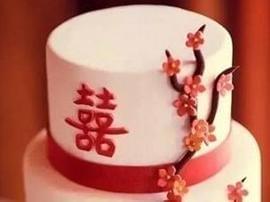 华丽丽的中国风婚礼蛋糕