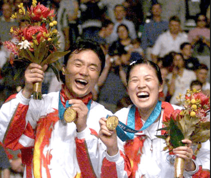 张军曾与高崚在悉尼摘金 为中国夺得奥运会历史上首枚混双金牌。