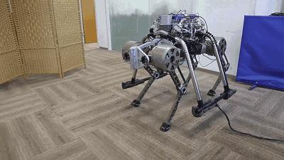 """浙大""""赤兔""""机器人:能小跑、奔跑、爬楼梯"""