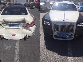 深圳车主避小黄车被劳斯莱斯追尾 交警:小黄车负责