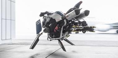 宝马造了台浮空摩托 配矢量风扇机外型科幻