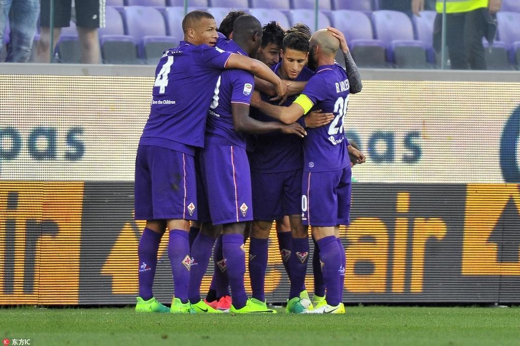 意甲-佛罗伦萨3-2超国米 那不勒斯5-0狂胜升第2