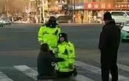 吉林女车主与交警街头互跪