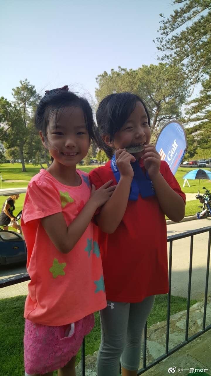 刘国梁女儿在美国参加高球赛夺冠 网友:爸爸去哪了