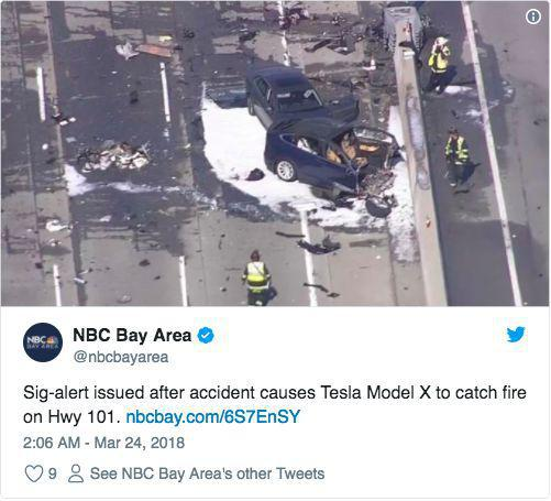 Uber之后特斯拉又发生致死车祸:车辆起火 司机死亡
