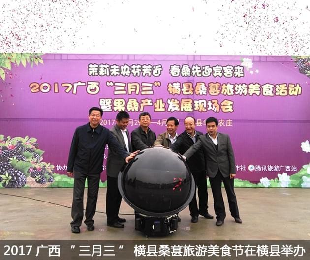 """2017广西""""三月三""""横县桑葚旅游美食活动暨果桑产业发展现场会在横县举办"""